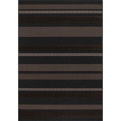 Couristan Sunscape 4 x 6 Bondi Stripe Chocolate Ebony 6031 5501