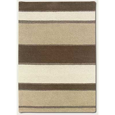 Couristan Super Indo-Natural 6 x 8 Retro Stripe Linen Beige White 2150/5000