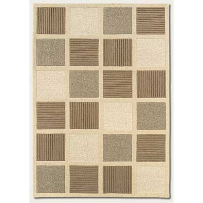 Couristan Super Indo-Natural 4 x 6 Textured Squares Beige Natural 2150/8000