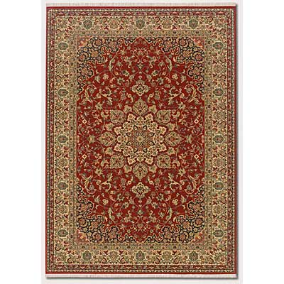 Couristan Taj Mahal 6 x 8 All-Over Center Medallion Rose Bud 7347/9341