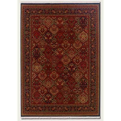 Couristan Taj Mahal 2 x 5 Panel Kerman Rose Scarlet 7357/1872