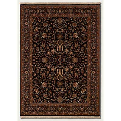 Couristan Taj Mahal 6 x 8 Royal Ispaghan Black 7317/3229