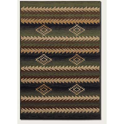 Couristan Taos Lodge 3 x 5 Elk Horn Green Blue 1155/0095