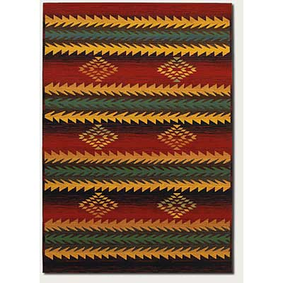Couristan Taos Lodge 3 x 5 Elk Horn Red 1155/8074