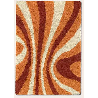 Couristan Visionnaire 8 x 10 Vibrancy Terra Cotta Orange 6079/5559