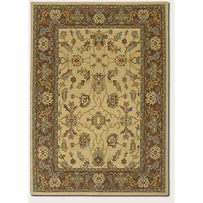 Couristan Woven Treasures 8 x 12 Antique Oushak Ivory Mocha 0051/0383