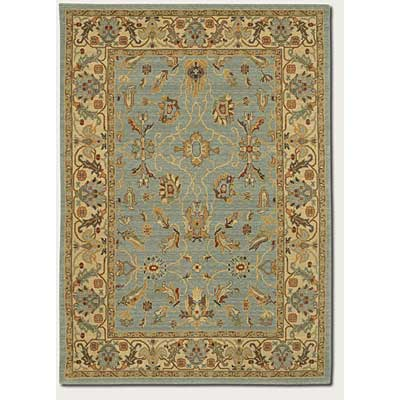 Couristan Woven Treasures 8 x 12 Antique Sarouk Powder Blue Ivory 0561/0113