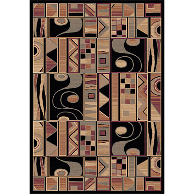 Dynamic Rugs Ancient Garden 8 x 11 Black 5076-090