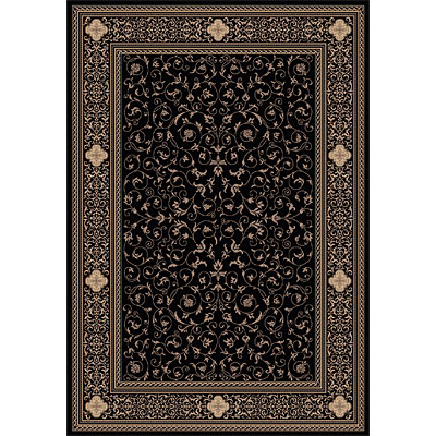 Dynamic Rugs Ancient Garden 2 x 4 Black 6563-090