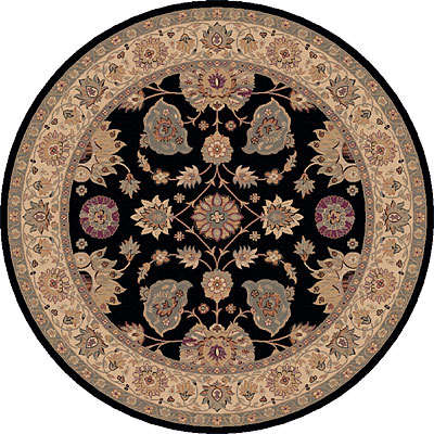 Dynamic Rugs Ancient Garden 8 Round Black 5050-090