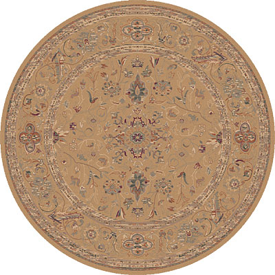 Dynamic Rugs Ancient Garden 8 Round Champagne 5006-770