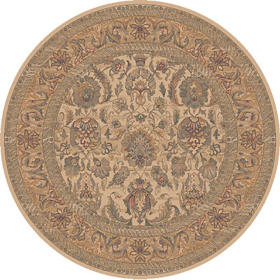 Dynamic Rugs Ancient Garden 8 Round Creme 5004-110