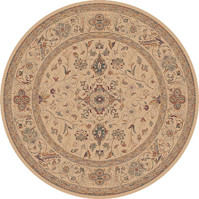Dynamic Rugs Ancient Garden 8 Round Creme 5006-110