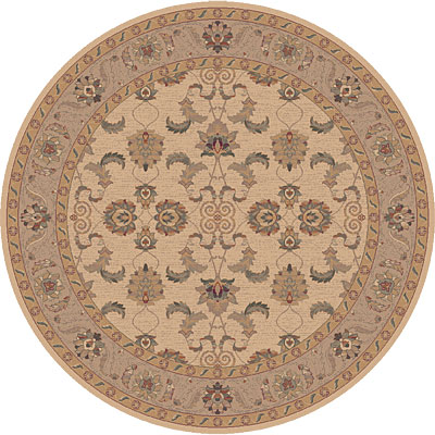 Dynamic Rugs Ancient Garden 8 Round Creme 5007-110