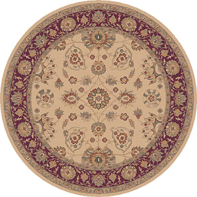 Dynamic Rugs Ancient Garden 8 Round Creme 5050-113