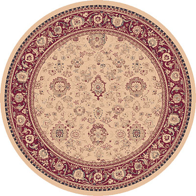 Dynamic Rugs Ancient Garden 8 Round Ivory 53123-118