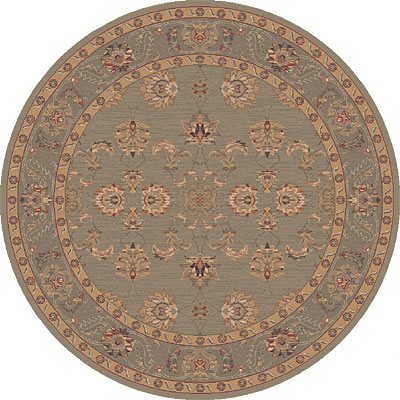 Dynamic Rugs Ancient Garden 8 Round Moss 5007-400