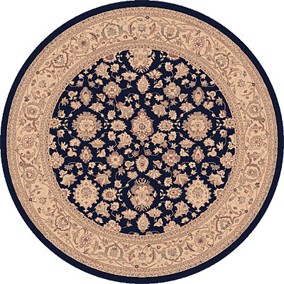 Dynamic Rugs Ancient Garden 8 Round Navy 53123-558