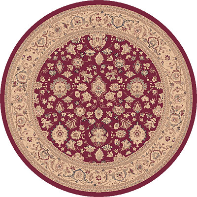 Dynamic Rugs Ancient Garden 8 Round Red 53123-338
