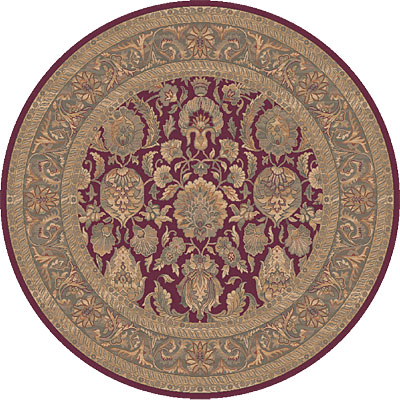 Dynamic Rugs Ancient Garden 5 Round Ruby 5004-330