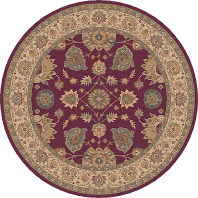Dynamic Rugs Ancient Garden 5 Round Ruby 5050-330