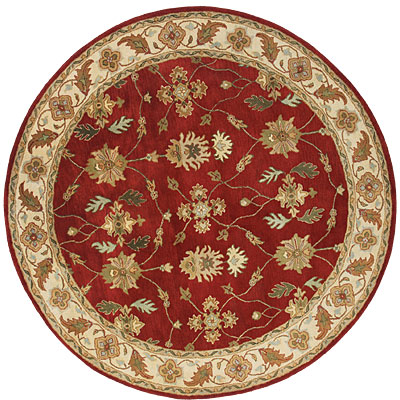 Dynamic Rugs Charisma 8 Round Red Ivory 1403-300