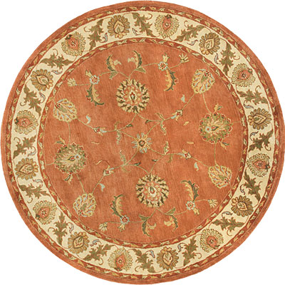 Dynamic Rugs Charisma 8 Round Rust Ivory 1405-200