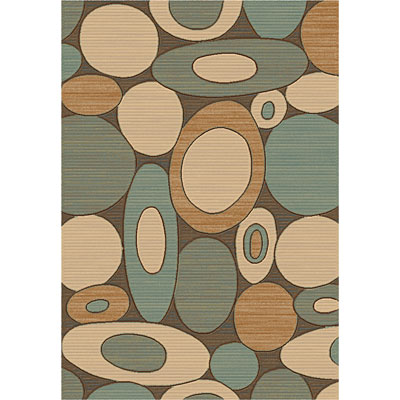 Dynamic Rugs Eclipse 7 x 10 Brown Blue 67002-3686