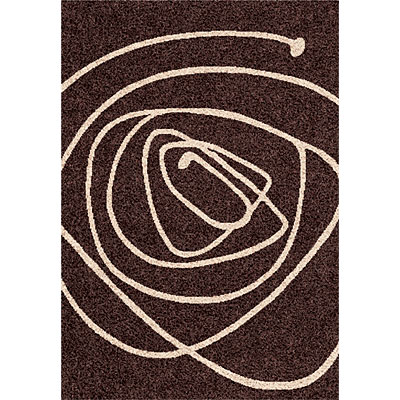 Dynamic Rugs Funky 5 x 8 Dark-Chocolate 2444-9161