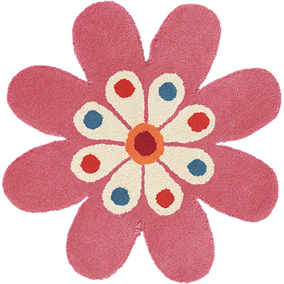 Dynamic Rugs Fantasia 2 x 2 Flowers Light-Pink 1706-200