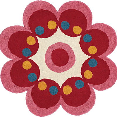 Dynamic Rugs Fantasia 3 x 3 Flowers Pink 1707-220