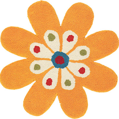 Dynamic Rugs Fantasia 3 x 3 Flowers Yellow 1706-700