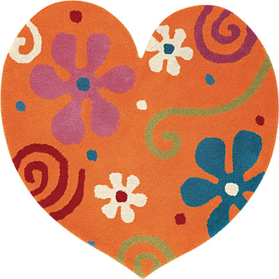 Dynamic Rugs Fantasia 3 x 3 Heart Gold 1708-770