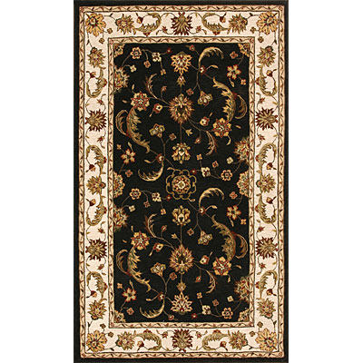 Dynamic Rugs Jewel 5 Round Charcoal Beige 70113-808