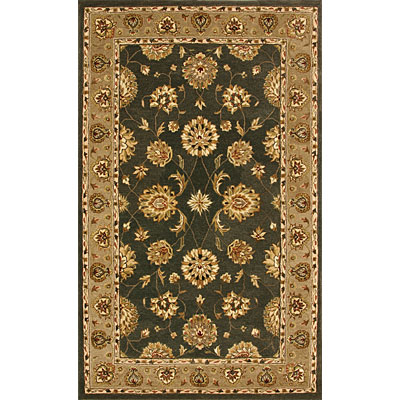 Dynamic Rugs Jewel 5 Round Green Dark Linen 70230-444
