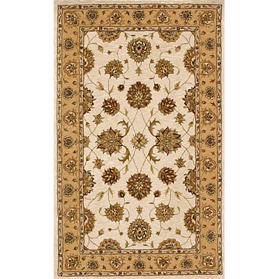 Dynamic Rugs Jewel 5 Round Ivory Gold 70230-107