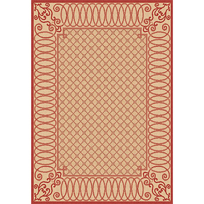 Dynamic Rugs Piazza 2 x 4 Beige Red 2587-3701