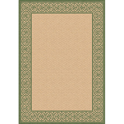 Dynamic Rugs Piazza 2 x 4 Natural-Green 2745-1E01