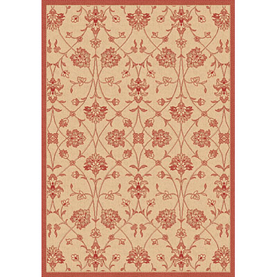Dynamic Rugs Piazza 2 x 4 Natural-Red 2744-3701