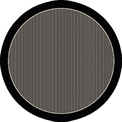 Dynamic Rugs Piazza 5 Round Black 2746-3908