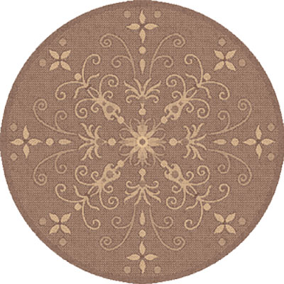 Dynamic Rugs Piazza 5 Round Brown 2583-3009