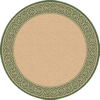 Dynamic Rugs Piazza 5 Round Natural-Green 2745-1E61
