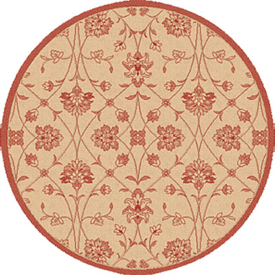 Dynamic Rugs Piazza 5 Round Natural-Red 2744-3701