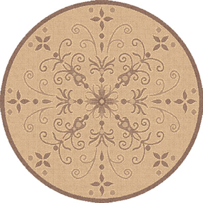Dynamic Rugs Piazza 8 ft Round Natural Brown 2583-3001