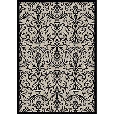 Dynamic Rugs Piazza 2 x 4 Sand Black 2742-3901
