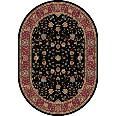Dynamic Rugs Radiance 7 x 10 Oval Black 43002-3212