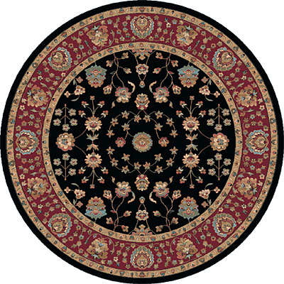 Dynamic Rugs Radiance 8 ft Round Black 43002-3212