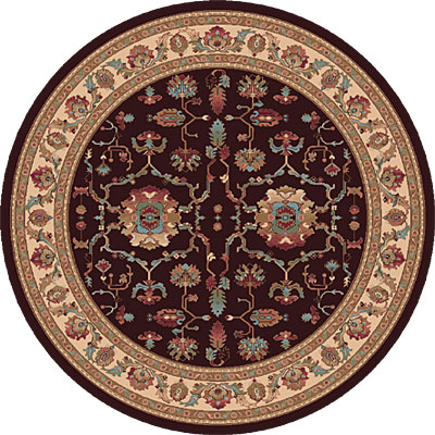 Dynamic Rugs Radiance 5 Round Chocolate 43006-3464