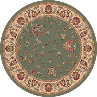 Dynamic Rugs Radiance 5 Round Olive 43003-4464