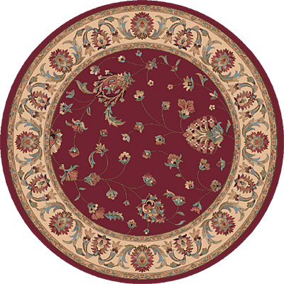 Dynamic Rugs Radiance 5 Round Red 43003-1464